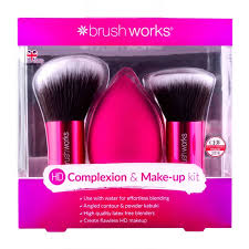 brushworks hd plexion make up kit