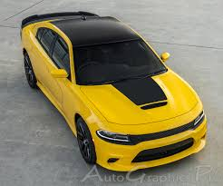 2015 2020 Dodge Charger Vinyl Decals Hood 15 Se Rt Hemi Stripes Daytona Mopar Blackout Graphic Kit