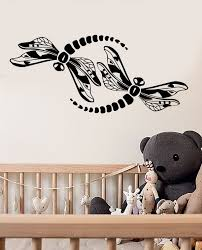 Vinyl Wall Decal Abstract Dragonflies Insects Stickers 3495ig Wallstickers4you