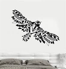 Amazon Com Bluegiants Quote Wall Decal Sticker Nursery Vinyl Saying Lettering Wall Art Inspirational Wall Decor Abstract Flying Owl Wings Bird Home Kitchen