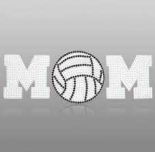Girly Volleyball Mom Crystal Sticker Crystal Car Decal Crystal Rhinestone Car Decal