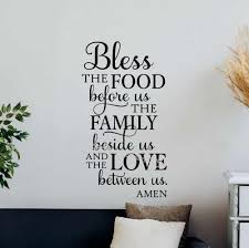 Bless The Food Before Us Amen Quote Wall Sticker Kitchen Dining Room Sign Family God Home Decor Wall Decal Poster Mural Eb082 Wall Stickers Aliexpress