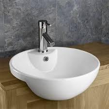 semi recessed bathroom washbasin