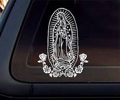 Virgin Mary Car Decal Sticker White Ebay