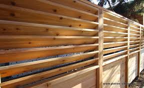 Palisade Fence With Fixed Horizontal Louvers Patios Et Clotures Beaulieu Palisade Fence Privacy Fence Designs Backyard Fences