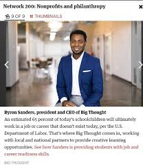 Big Thought - Proud that Byron Sanders was named one of... | Facebook