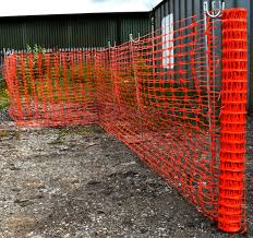 50m Orange Temporary Plastic Barrier Fence Mesh Zinc Steel 1 2m Fencing Pins Ebay