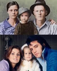 Priscilla and Elvis, Elvis's Mom and Dad | Elvis presley priscilla ...
