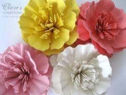 glitter paper flower frame with