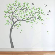 Amazon Com Wall Decal Large Tree Decals Huge Tree Decal Nursery With Birds Tree Wall Mural Removable Vinyl Wall Sticker 032r Arts Crafts Sewing