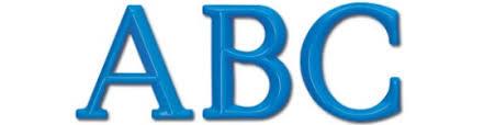 formed plastic 3d letters logos