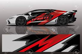Sport Car Decal Wrap Design Vector Sport Car Decal Wrap Design Royalty Free Cliparts Vectors And Stock Illustration Image 140239802