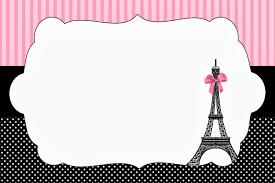 Paris Invitations And Free Party Printables Invitaciones De