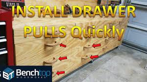 jig for installing drawer pulls