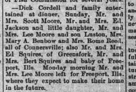 Leander Moore, Scott Moore, Lurton Moore, Ada Reed, Mary Benbow -  Newspapers.com