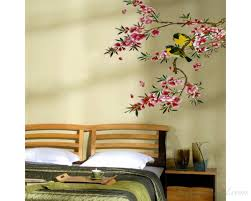 Cuckoo In The Tree Wall Stickers Birds Wall Stickers Flower Tree Wall Art For Living Room