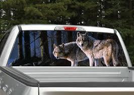 Wolf Scene Wolves Rear Window Decal Graphic Truck Suv Ebay