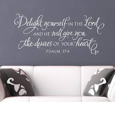 Hot Sale B155b Scripture Wall Sticker Delight Yourself In The Lord Bible Verse Hand Lettered Art Christian Vinyl Decal Scripture Wall Decor 422 Cicig Co