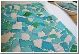 sea glass mosaic tray sea glass