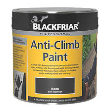 Blackfriar Anti Climb Paint Black 1ltr Specialist Paints Screwfix Com