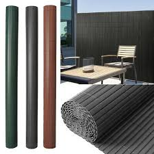 Fence Privacy Screen Pvc Bambo Effect Slat Garden Fencing Panel Windscreen Cover Ebay