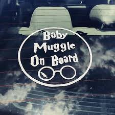 Harry Potter Car Decal Baby Muggle On Board Funny Vinyl Hogwarts Gryffindor Ebay