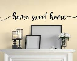 Home Wall Decal Etsy