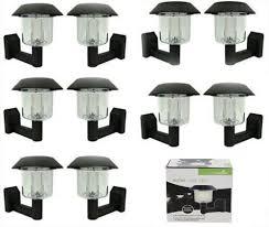 Ardisle 10 X Solar Powered Led Door Fence Wall Lights Outdoor Garden Light Lantern Black Ideal