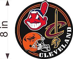 Amazon Com Cleveland Sports Fan 8 Vinyl Decal Browns Indians Cavaliers Sticker Automotive