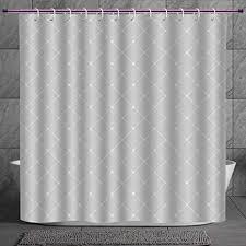 shower curtain 2 0 grey simple linear