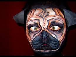 pug face paint in action you