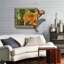 3d Removable Tiger Wall Decal Wall Stickers Home Bedroom Wall Background Decoration Sale Banggood Com Sold Out Arrival Notice