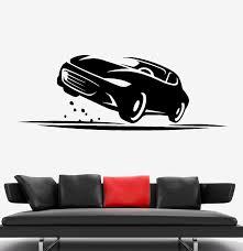 Wall Decal Car Race Speed Track Garage Decor Vinyl Sticker Ed1722 Wallstickers4you