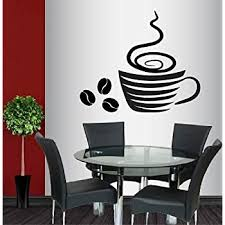 Amazon Com Wall Vinyl Decal Home Decor Art Sticker Stylish Coffee Cup Hot Coffee Beans Kitchen Cafe Coffee Shop Bar Bakery Room Removable Stylish Mural Unique Design 588 Home Kitchen