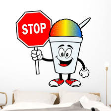 Shaved Ice With Stop Sign Wall Decal Wallmonkeys Com