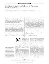 pdf cost benefit ysis of an
