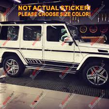 Car Side Stripes Decal Sticker Fit For Mercedes Benz G500 Amg G63 Car Vinyl Ebay