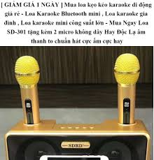 GIẢM GIÁ 1 NGÀY ] Mua loa kẹo kéo karaoke di động giá rẻ - Loa Karaoke  Bluetooth mini , Loa karaoke gia đình , Loa karaoke mini công suất lớn -