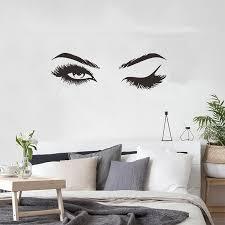 Creative Pretty Eyelashes Wall Sticker Girl Room Living Room Decoratio Wood Iron Copper Craft