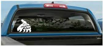 Mama Bear With Bear Cub Heart Family Bear Car Vinyl Decal Sticker Ebay