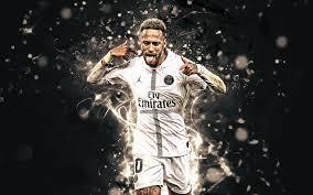 تحميل خلفيات نيمار الزي الأبيض البرازيلي لاعبي كرة القدم باريس