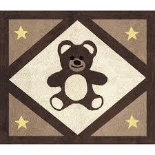 chocolate teddy bear accent floor rug