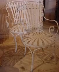 french metal sprung garden chairs