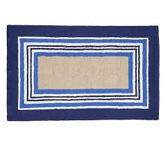 Tailored Striped Rug Blue Patterned Rugs Pottery Barn Kids