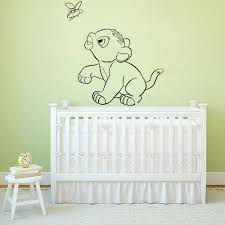 Animal Home Decor Simba Wall Stickers For Kids Room Boys Lion King Room Decoration Wall Vinyl Decals Cartoon Wallpaper B541 Wall Stickers Aliexpress