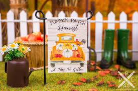 Dollhouse Miniature Pumpkin Patch Harvest Garden Flag 1 12 Dollhouse Miniature The Petite Provisions Co