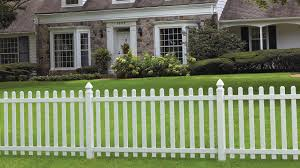 Veranda Glendale 4 Ft H X 8 Ft W White Vinyl Spaced Picket Unassembled Fence Panel With Dog Ear Pickets 152811 The Home Depot