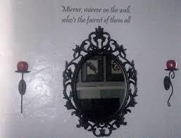 wall with snow white theme mirror