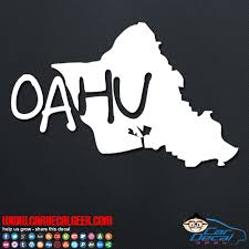 Oahu Hawaii Island Car Window Vinyl Decal Sticker