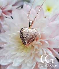 petite 9ct rose gold engraved heart
